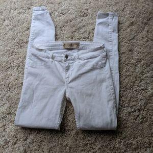 Cute Hollister super skinny white denim jeans